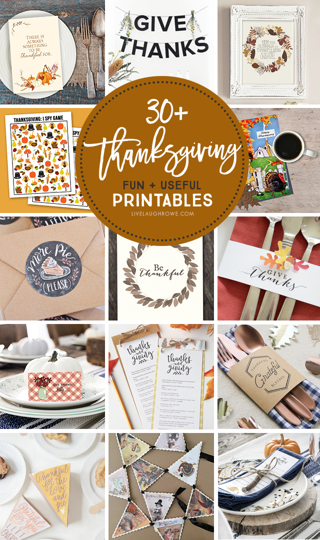 Printables for Thanksgiving Collage