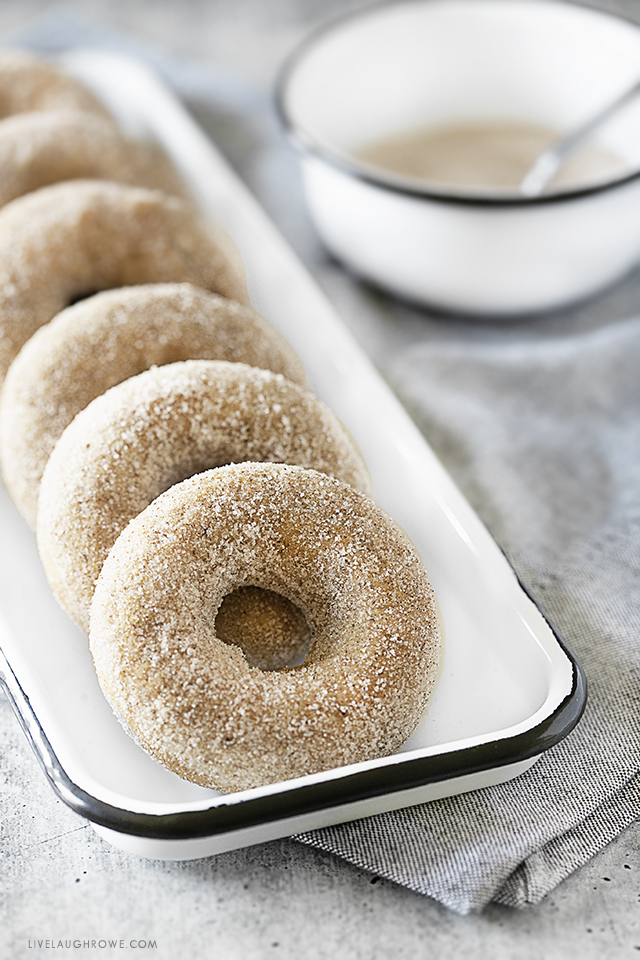 Apple Cider Donuts on a Tray