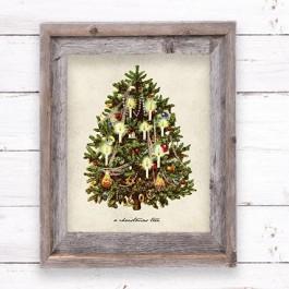 framed holiday printable