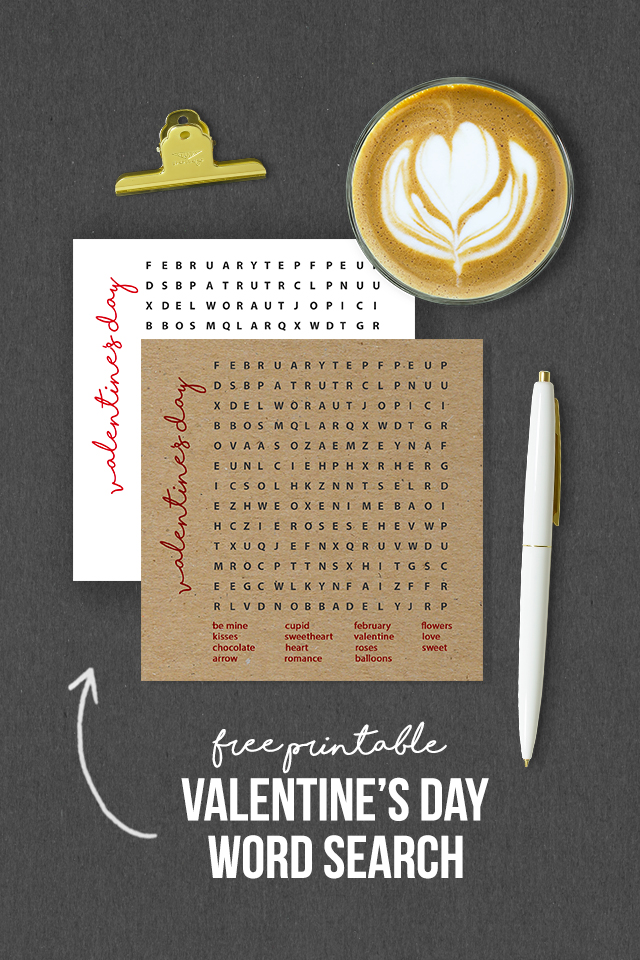 Valentine's Day Word Search Games