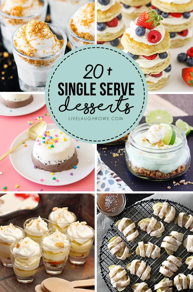 Collage of Single Serve Desserts