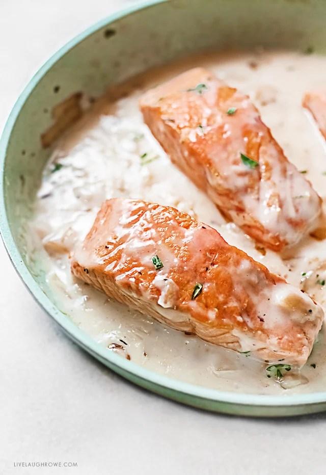 Salmon with Cream Sauce