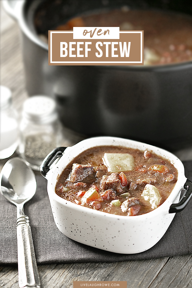 warm up with a bowl of oven beef stew