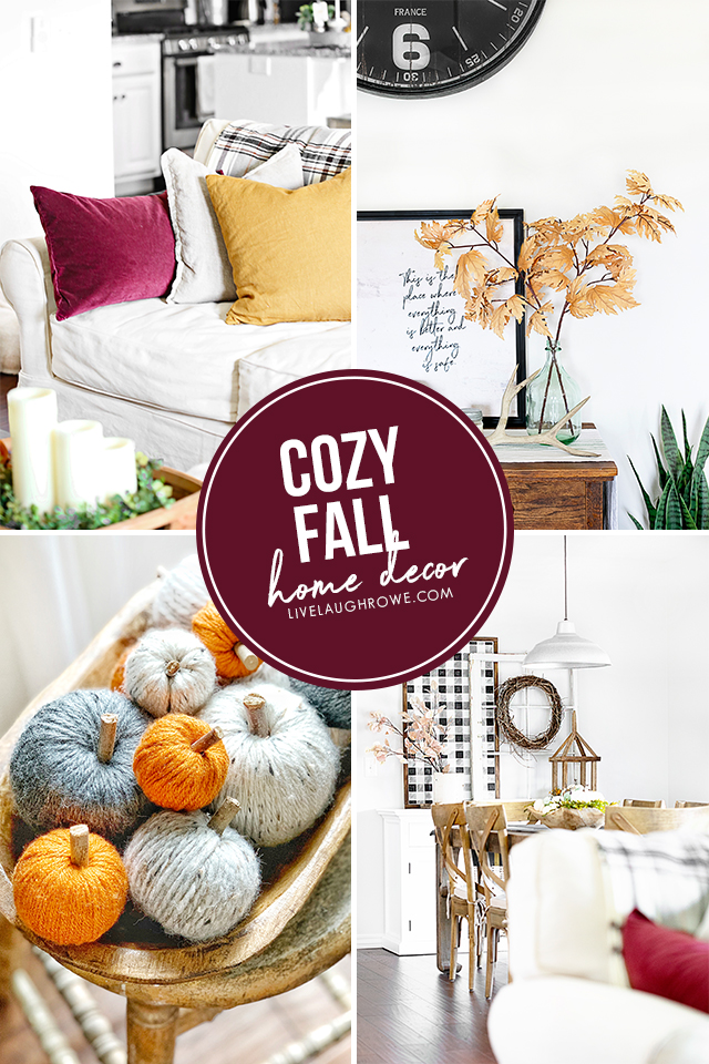 Cozy Fall Decor Collage of Pictures