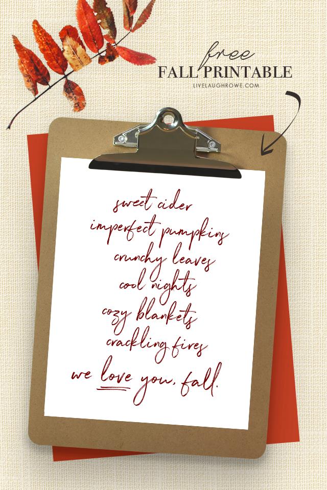 Reasons to Love Fall