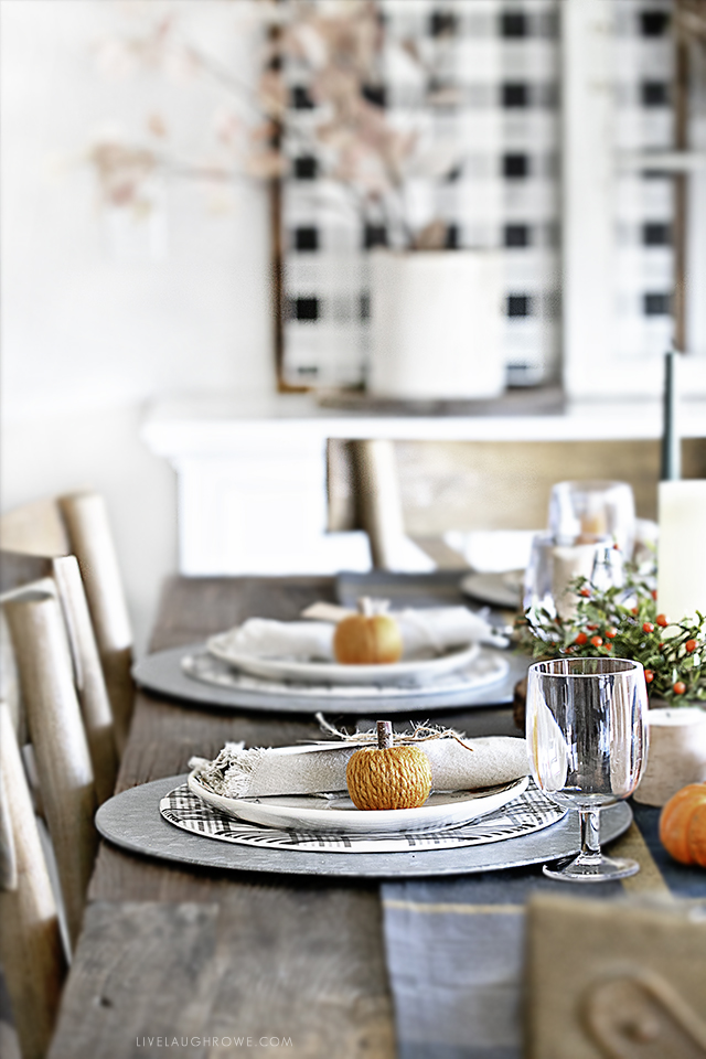 Sideview of Fall Table