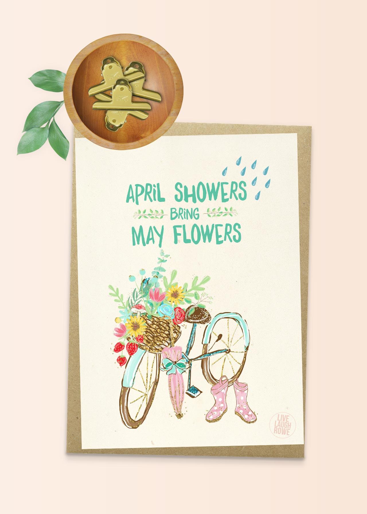 April Showers Bring May Flowers Printa