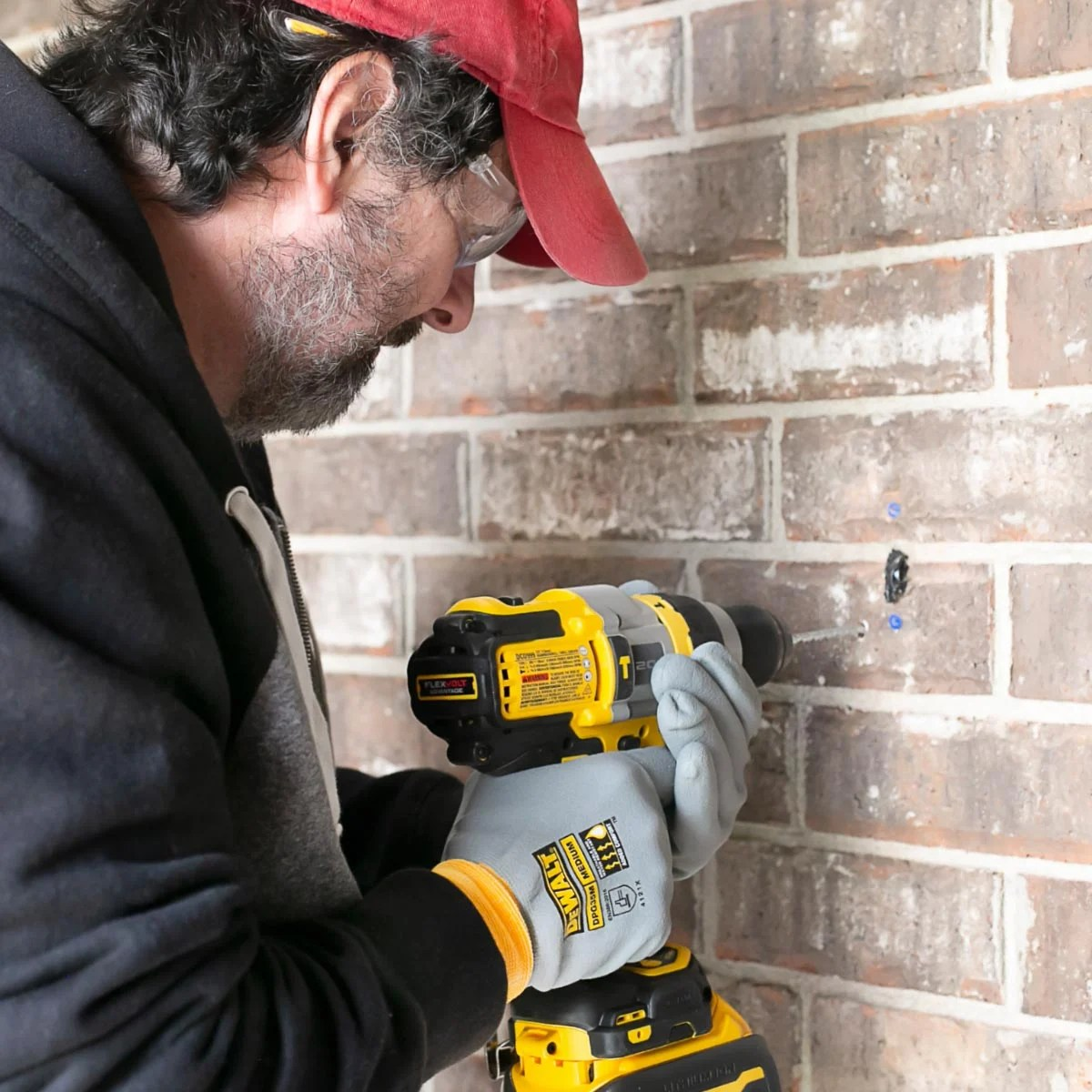Installing the Ring with DEWALT Hammer Drill. livelaughrowe.com