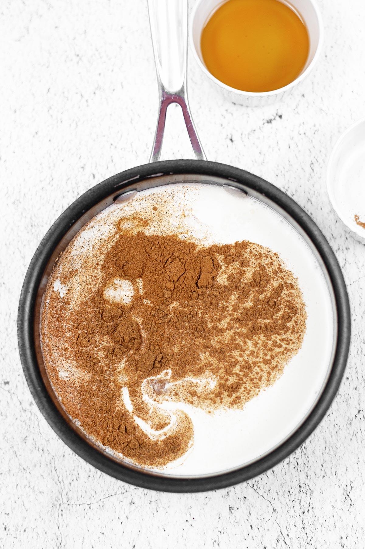 Pumpkin Creamer in Pan