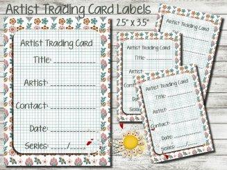 Rustic Floral ATC Labels