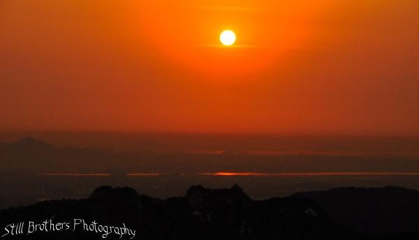 Sunset in Bukansan National Park 2