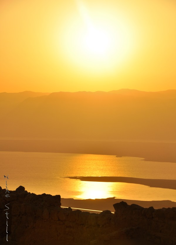 Masada Sunrise over the Dead Sea