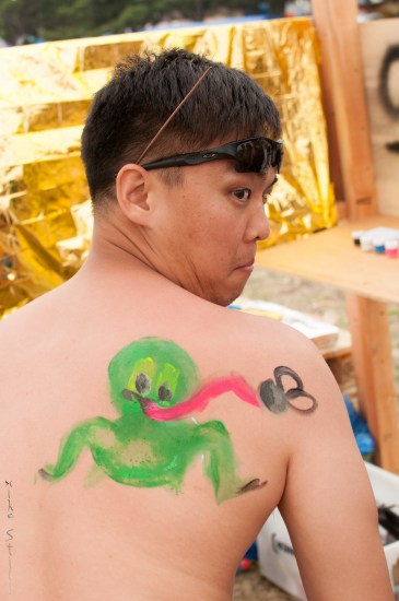 """Paint a frog on my back!"" - Jin"