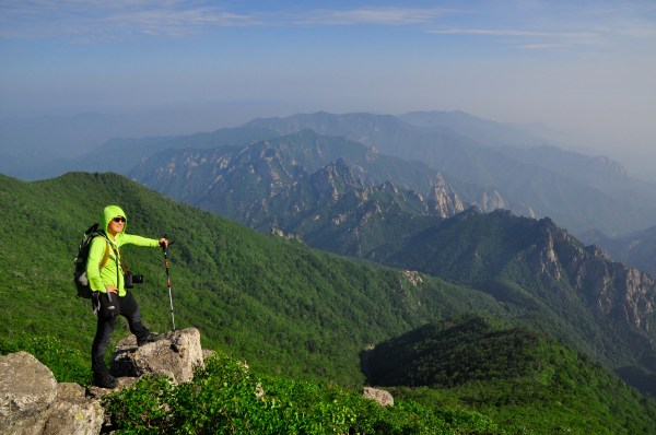At the top of Daecheongbong in Seoraksan National Park