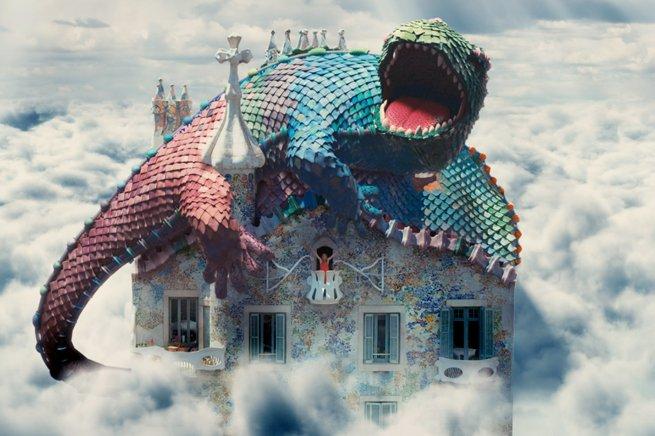 Casa Batllò Dragon St. George Gaudī Barcelona