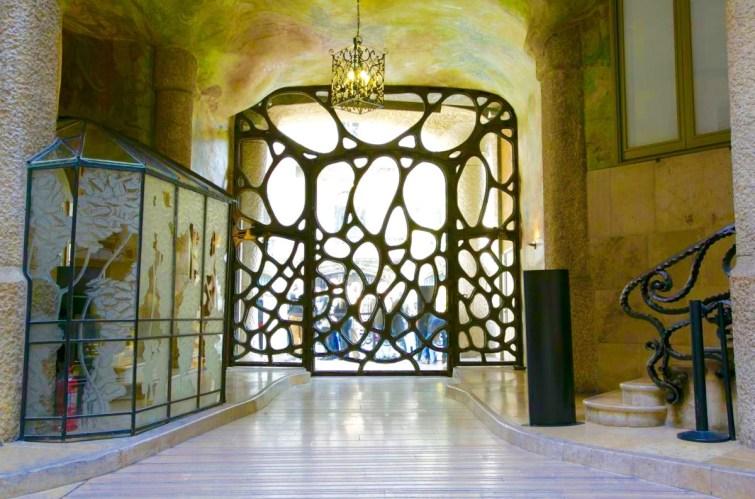 La Pedrera entrance door