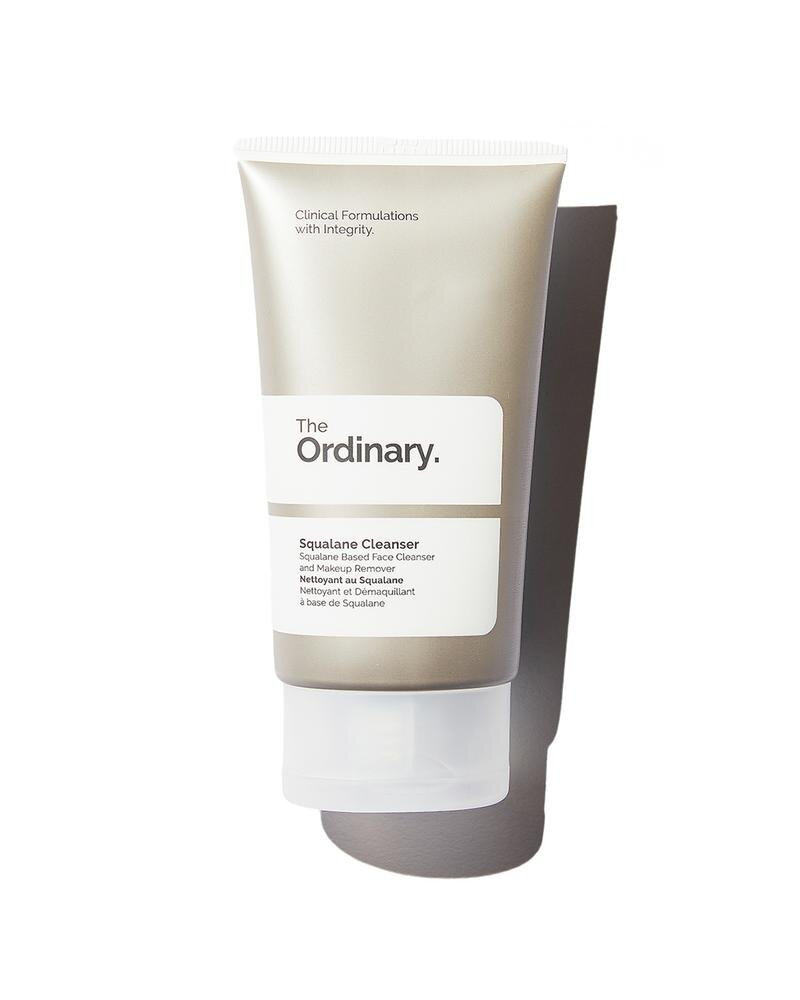 The Ordinary Squalene Cleanser  is an ultra-gentle daily moisturising cleanser that mimics skin esters for a more soothingclean. The formula incorporates Squalane, alongside other lipophilic esters that are gentle, moisturizing, efficient in dissolving makeup and facial impurities and increasing the spreadability of the product.