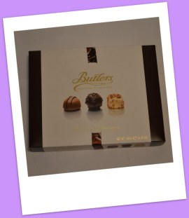 Butlers box of assorted chocolate truffles & pralines