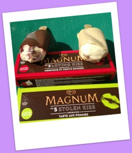 My Magnum Tarte Aux Pommes and Mel's Magnum Meringue Fruits Rouges