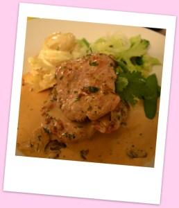 Pork medalions, marsala & cream sauce