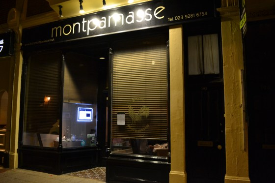 Bistro Montparnasse, Southsea, Portsmouth, restaurant, Michelin Guide,  petit fours, pork belly, poached pear, dauphinoise potatoes, spume, Buckwell's of southsea, European restaurant