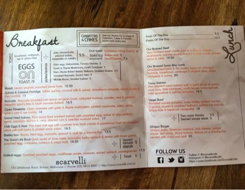 Scarvelli Cafe: Melbourne - livelifelovecake