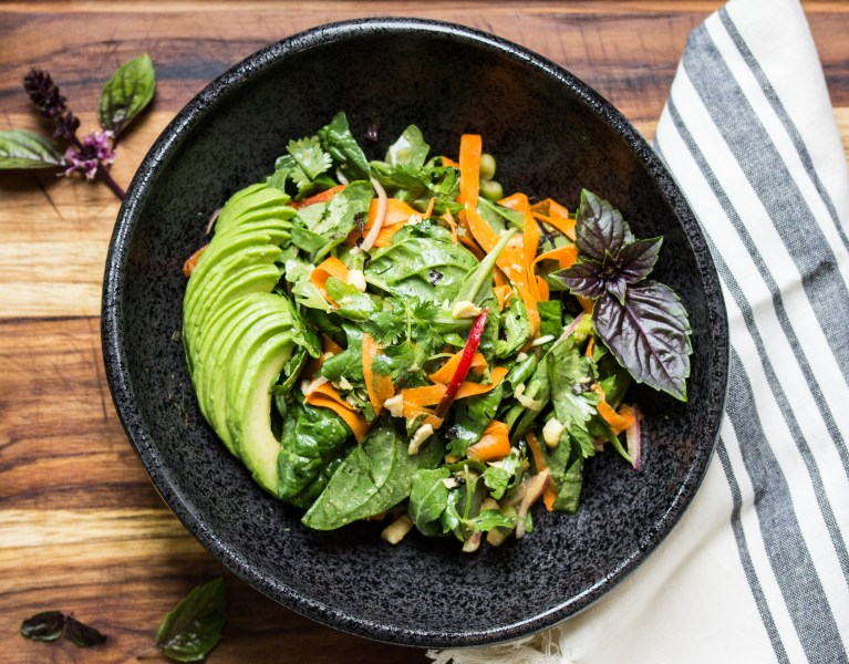 Asian salad with thai dressing
