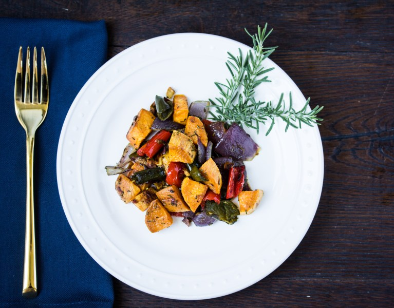 Roast Sweet Potato and Peppers