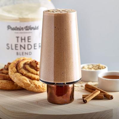 Protein World's Cinnamon Bun Smoothie