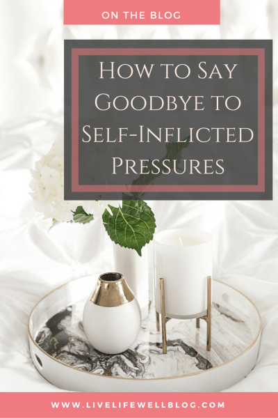 We all feel so many pressures: pressure to succeed, pressure to have certain things and look a certain way, pressure to be better and do more, pressure to say yes even when our minds, bodies, and spirits are begging us to say no. Many of these are self-inflicted and do more harm than good. Say goodbye to them today!