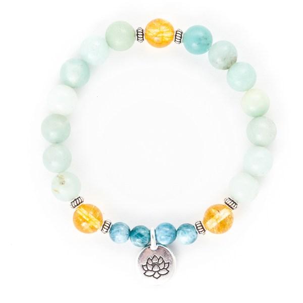 Amazonite Citrine Apatite Bracelet