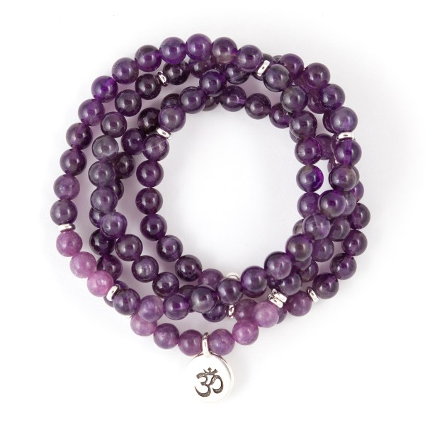 108 Bead Amethyst Bracelet