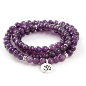 Amethyst & Lepidolite 108 Bead Bracelet