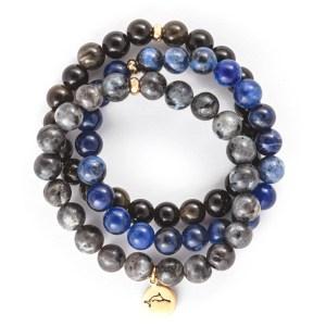 Black Marlin Bracelet Stack