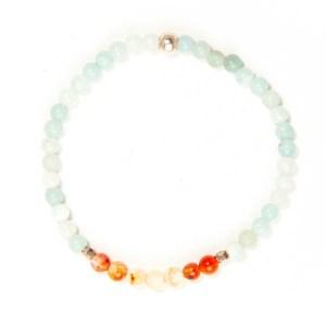 Dainty Amazonite & Carnelian Bracelet