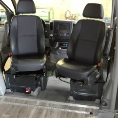 Swivel Chair Mercedes Sprinter Discount Directors Chairs Sportcraft Seat Install 2016 Van