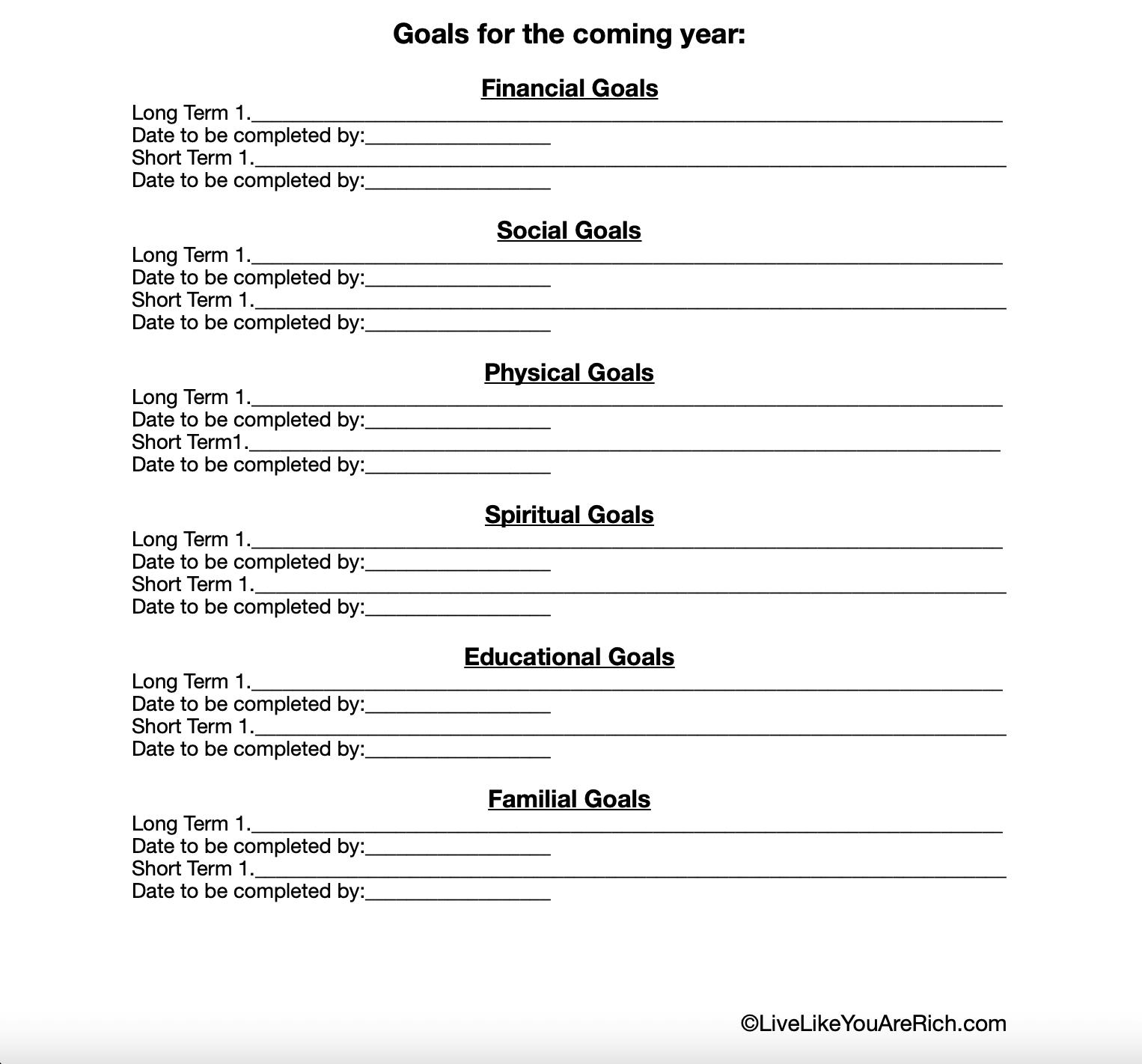 New Years Worksheet Free Printable