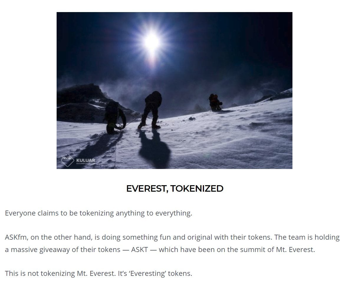 everest tokenized