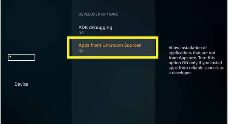 enabling apps from unknown sources to get the media lounge apk