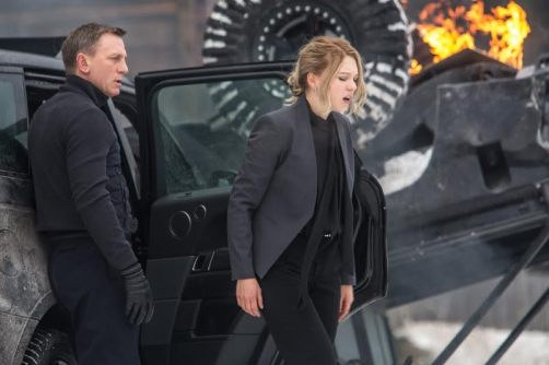 Bond (Daniel Craig) at the crashed Range Rover having just released Madeleine Swan (Lea Seydoux) in Metro-Goldwyn-Mayer Pictures/Columbia Pictures/EON Productions' action adventure SPECTRE.Obertilliach, Austria