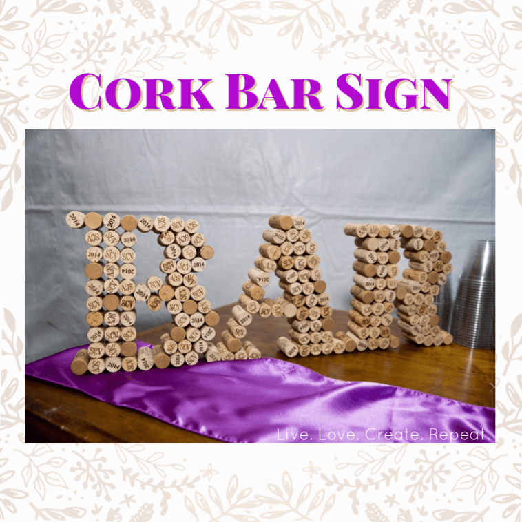 Cork Art Wedding: DIY Wedding Decor That's Free And Simple