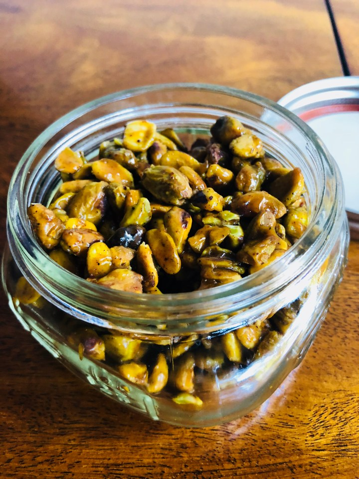 Honey-Glazed Pistachios