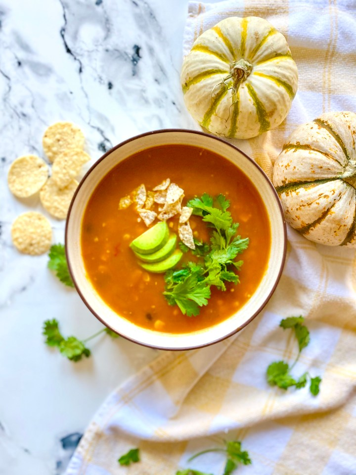 Chipotle Pumpkin Tortilla Soup