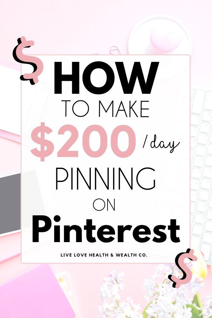 pinning on Pinterest make money