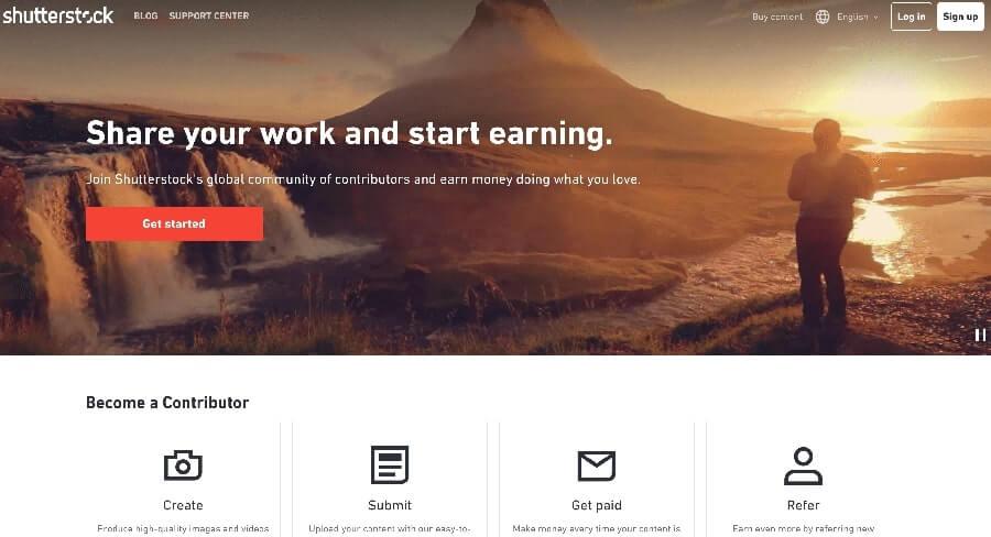 shutterstock earn money for selling content (1)