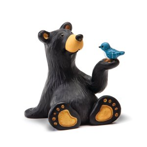 bear with blue bird