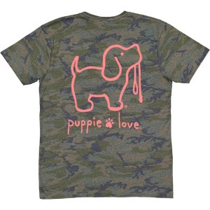 Camo with pink Puppie shirt