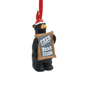 Bear Holding free hugs sign