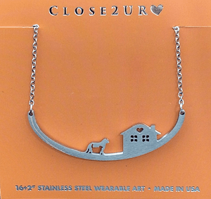 Dog and Cat Necklace at home