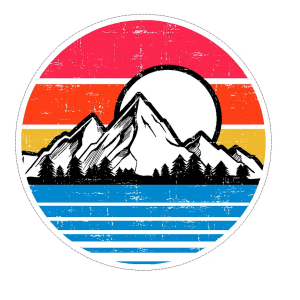 Mountain Scene decal